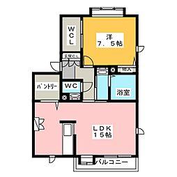 アーバン西田[2階]の間取り