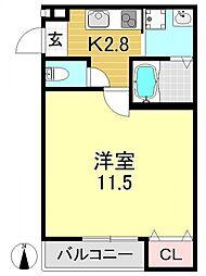 フジパレス駒川中野V番館[1O2号室号室]の間取り