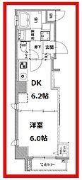 ル・プラターヌ 3階1DKの間取り