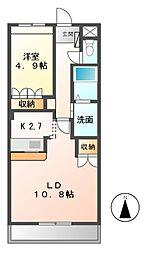 メゾン蓮池[1階]の間取り