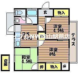 [一戸建] 岡山県岡山市北区白石丁目なし の賃貸【/】の間取り
