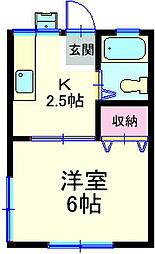 ハイツアオキ[205号室]の間取り