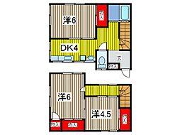 [一戸建] 埼玉県川口市本町1丁目 の賃貸【/】の間取り