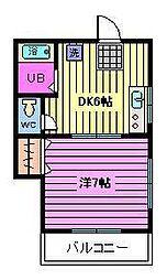 ビーンズバレー[2階]の間取り