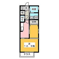 D-room芦原[2階]の間取り
