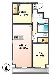 寿庵「JUAN」[3階]の間取り