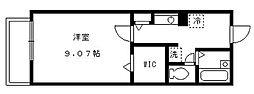 東京都中野区中野2丁目の賃貸アパートの間取り