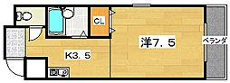 チェリーブロッサム[4階]の間取り