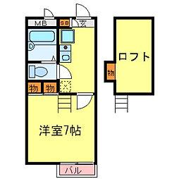 兵庫県尼崎市崇徳院の賃貸マンションの間取り