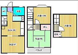 第3黄金城ハイツB[1階]の間取り