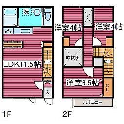 [タウンハウス] 北海道札幌市東区中沼西二条2丁目 の賃貸【/】の間取り