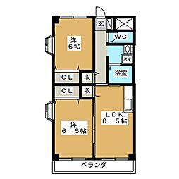 惣武マンション[2階]の間取り