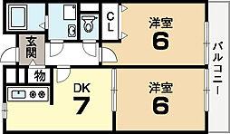 ラフィーネ寺田[2階]の間取り
