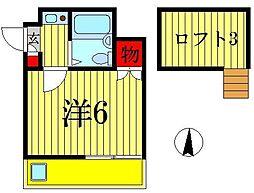 ジュネパレス新松戸第34[2階]の間取り