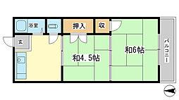 川畑ハイツ[2階]の間取り