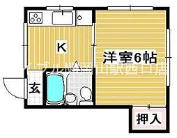 パルミーエイト[2階]の間取り