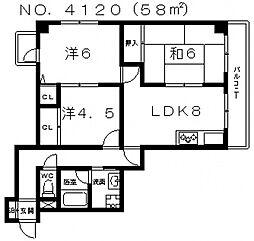 クラールプラッツ[5階]の間取り