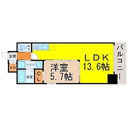 La vita IZUMI(ラヴィータ泉)[5階]の間取り