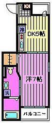 埼玉県さいたま市中央区鈴谷8丁目の賃貸アパートの間取り