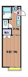 モンシャトー加藤[1階]の間取り