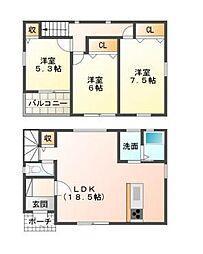 [一戸建] 兵庫県姫路市西今宿1丁目 の賃貸【/】の間取り