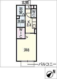 セジュール福地[1階]の間取り