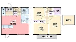 [テラスハウス] 福岡県糸島市有田中央1丁目 の賃貸【/】の間取り