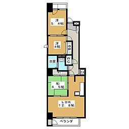 ベル・クローチェ京都洛央[7階]の間取り