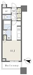 JR山手線 目黒駅 徒歩2分の賃貸マンション 3階ワンルームの間取り