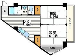福保ビル[5階]の間取り