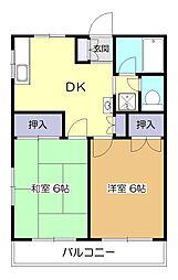 カーサ野崎[2階]の間取り