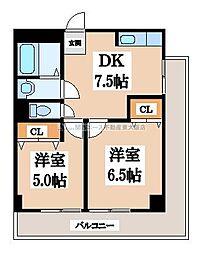 サンライフ小阪[3階]の間取り