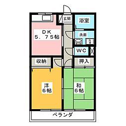 マンションLIVE[1階]の間取り