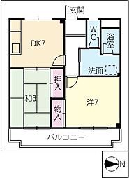 エステートピアスズキ[2階]の間取り