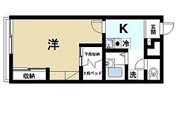 近鉄奈良線 近鉄奈良駅 バス9分 萩ヶ丘町下車 徒歩2分の賃貸アパート 2階1Kの間取り