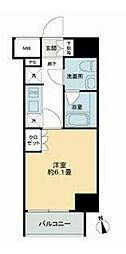 JR山手線 品川駅 徒歩14分の賃貸マンション 6階1Kの間取り