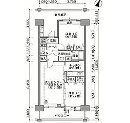 幕張ベイタウンミラマール[3階]の間取り