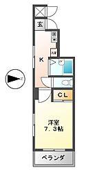 シェルコート金山[6階]の間取り