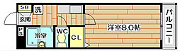 アビタシオン奈佐原B棟[1階]の間取り