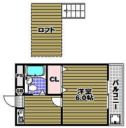 シャトル狭山遊園[2階]の間取り