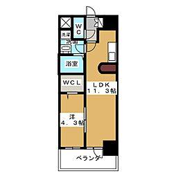 フォレシティ栄[3階]の間取り