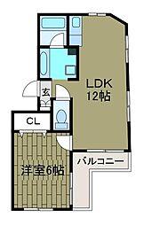 神奈川県相模原市南区鵜野森3丁目の賃貸マンションの間取り