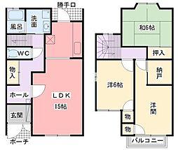 [タウンハウス] 兵庫県姫路市御立中6丁目 の賃貸【/】の間取り