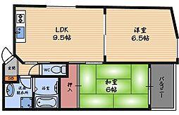 ハイツアケボノ[9階]の間取り