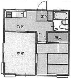 コスモハイツ坂戸[1階]の間取り