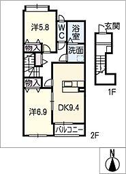 クイットネス・ナカ[2階]の間取り