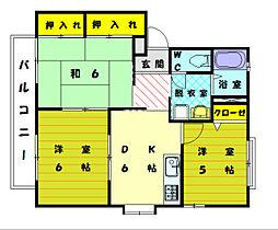 コーポ弐番館[1階]の間取り