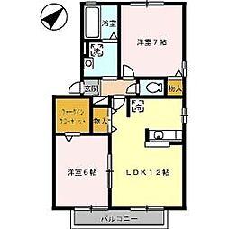 リヴェール D棟[2階]の間取り