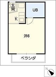 ドール豊明[3階]の間取り
