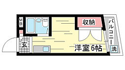 兵庫県神戸市兵庫区夢野町2丁目の賃貸マンションの間取り